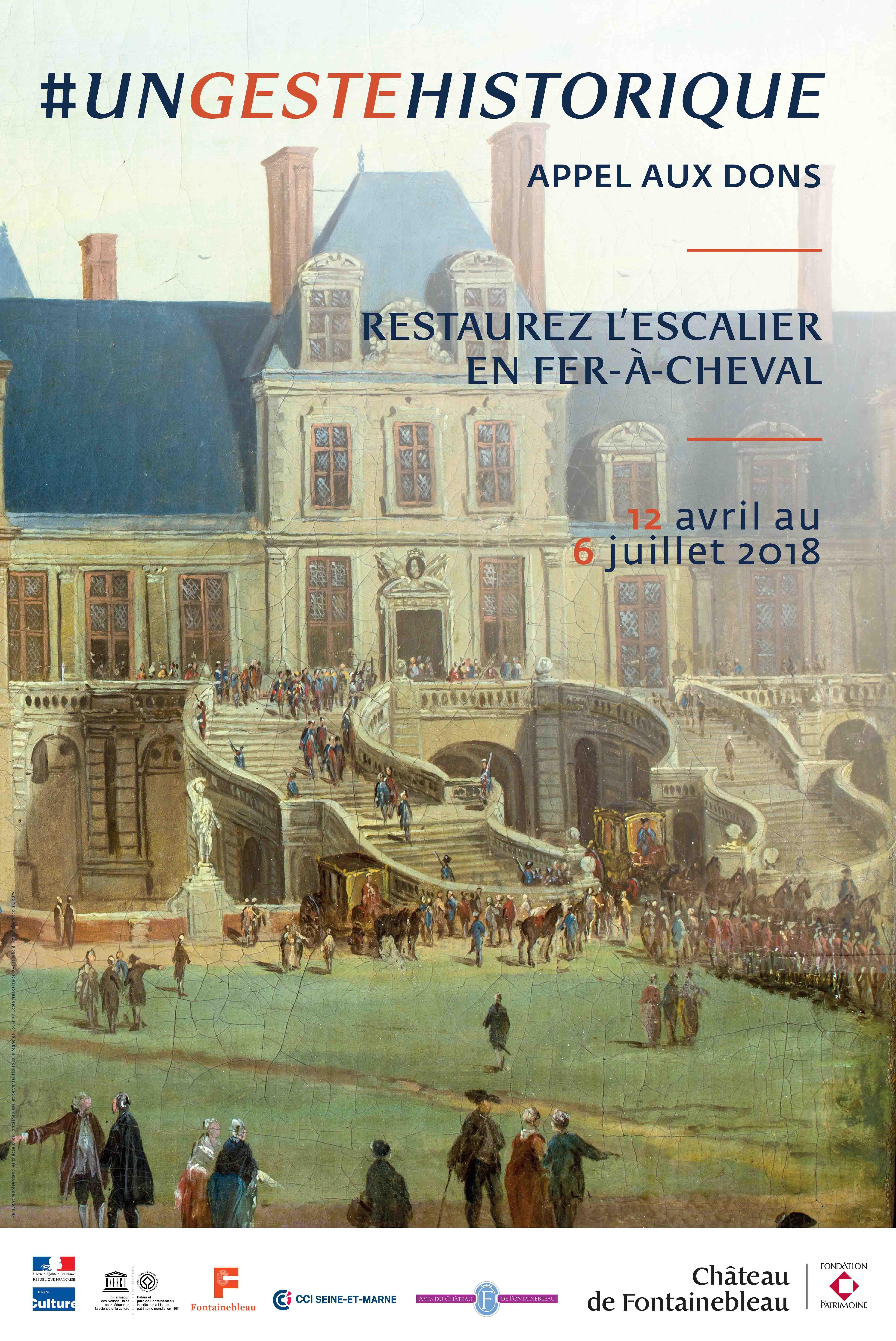 Affice Escalier en Fer-à-Cheval - Un geste historique